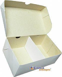 Caixa Lanche 20x12x7cm com divisória -  Cód. 112